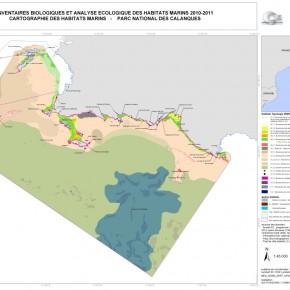 Cartographie des habitats marins et mise en place d'un zonage pour la gestion du Parc national des Calanques